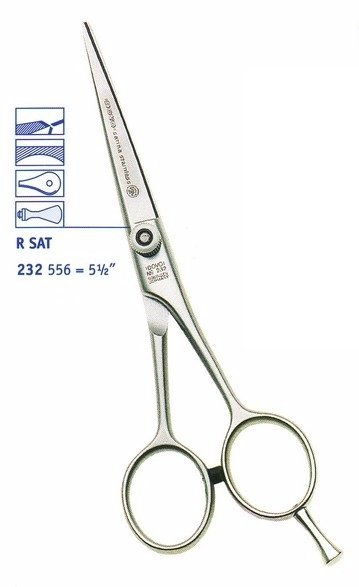 Hairdressing scissors DOVO 232556 Satina Stainless - 5.5 ""