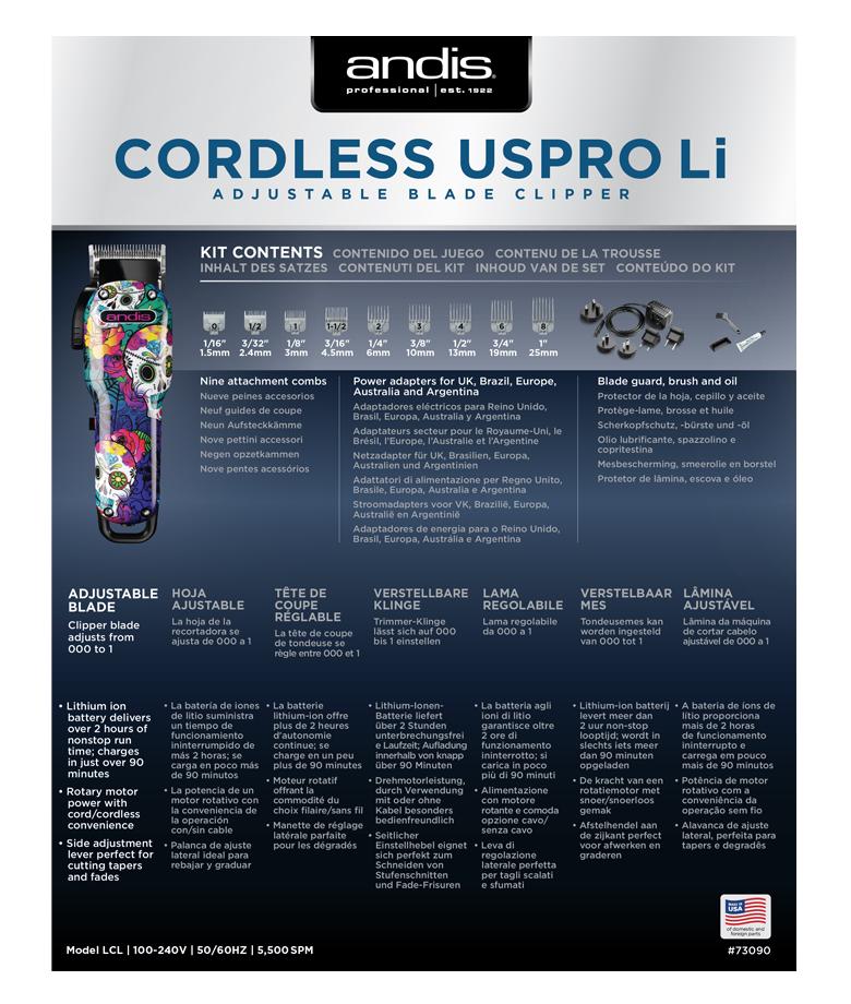 Andis Cordless USPRO 73090 4